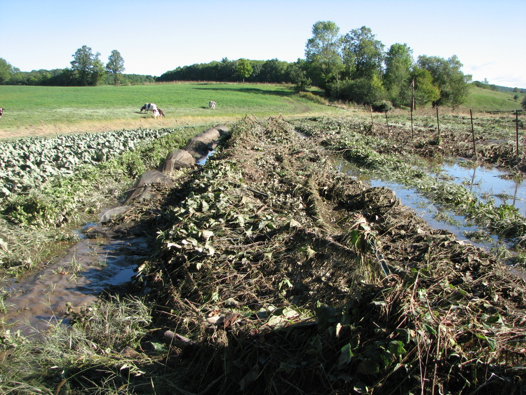 Flood damage at Gildrien Farm in Middlebury